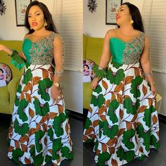 Don't you think it's the best time for you to get some enchanting Ankara styles for yourself. The Ankara styles below are so magnificent and their styles are magical. Checkout these enchanting ankara styles and enjoy the beauty of the cold weather. Latest Ankara Gown, Ankara Dress Styles, Latest African Fashion Dresses, Latest Ankara Styles, Ankara Gowns, African Print Dresses, African Dress, Ankara Skirt, African Clothes