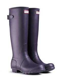 Adjustable Rain Boots | Original Back Adjustable | Hunter Boot $150 (would want in Aubergine/purple color)