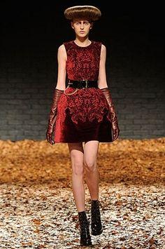 Mademoiselle Demi Jo: LFW Alexander McQueen by Sarah Burton Fall'12