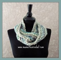 Teal Scarf Tube Chunky Cowl Soft Warm Circle by MoomettesCrochet, $20.00