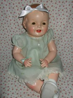 GREAT-BIG-DELIGHTFUL-CHUBBY-25-HAPPY-COMPOSITION-AND-CLOTH-BABY-DOLL-NO-RESERVE