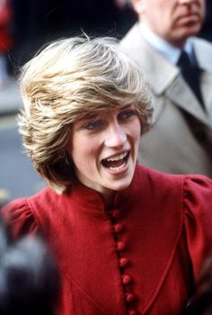 It looks like she started the Justin Bieber hair trend way back then - Princess Diana