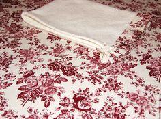 """Купить Льняная скатерть """"Шармэ"""" с полотенцем. Подарок на 8 Марта. - бордовый, подарок на 8 марта"""