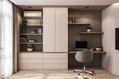 Apartment – Dezign Ark (Beta) – Home Office Design Diy Study Table Designs, Study Room Design, Home Room Design, House Design, Office Interior Design, Home Office Decor, Office Interiors, Apartment Interior, House Rooms