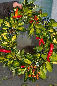 Making your own fresh Christmas wreath tutorial Christmas Wreaths To Make, Holiday Wreaths, All Things Christmas, Christmas Time, Christmas Decorations, Christmas Ornaments, Christmas 2016, Moss Wreath, Diy Wreath