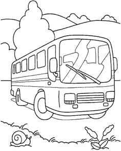 92214 bus coloring page to emphasize importance of mass transit on