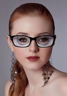 Geek Glasses, Girls With Glasses, Cat Eye, Eyewear, Health, Fashion, Eyes, Woman, Moda