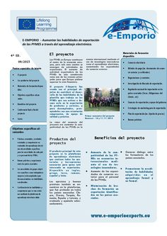 4ª Newsletter del Proyecto e-Emporio Posted on 26/10/2015 by Caridad Mtnez. Carrillo de Albornoz