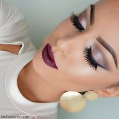 Beauty: How to wear plum lipstick? Plum chic fall makeup look tutorial by Lisa Eldridge.