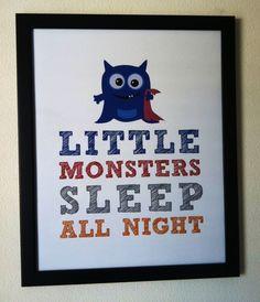 monster nursery | Little Monster | Letters to Z