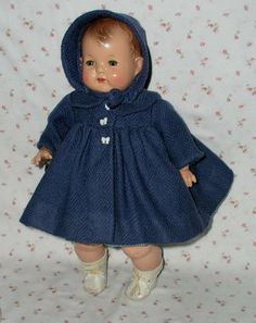 "RARE Wonder Doll --1925 Effanbee 18"" BABY EVELYN Composition Doll -- A/O -- Fabulous - With 4 Outfits"