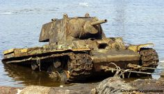 Tank KV-1, with additional shielding, raised from the bottom of the Neva River in 2002. He is now renovated and is located in the exhibit ne...