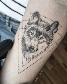 Trendy tattoo geometric wolf wolves ink ideas - You are in the right place about Trendy tattoo geometric wolf wolves ink ideas Tattoo Design And St - Wolf Tattoos, Tattoos 3d, Neue Tattoos, Trendy Tattoos, Animal Tattoos, Body Art Tattoos, Tattoos For Guys, Sleeve Tattoos, Tatoos