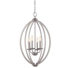 View the Quoizel QF1402 Signature 4 Light Single Tier Chandelier at LightingDirect.com.