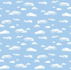 """Pacon 56465 Fadeless Art Paper, 48"""" x 50' roll, Clouds"""