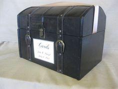 Wedding Card Box Holder Train Case / Vintage Style Wedding Card Box Holder Suitcase / Wishes / Programs Holder