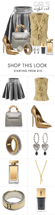 """Hey Besties: Girl's Night Out!"" by shamrockclover ❤ liked on Polyvore featuring Ralph Lauren, Nancy Gonzalez, Casadei, Marni, Alexander McQueen, Dolce&Gabbana, Phillip Gavriel, Hermès, Yves Saint Laurent and gold"