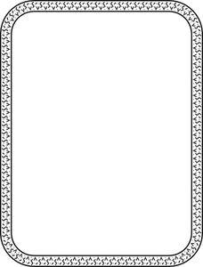 PublicDomainVectors.org-Marco simple de blanco y negro.