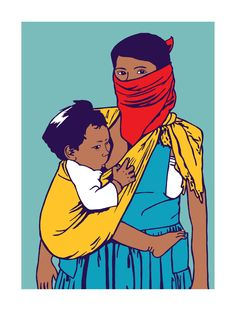 The place to shop for prints and posters by Dignidad Rebelde's Melanie Cervantes and Jesus Barraza. Breastfeeding Art, Trill Art, Latino Art, Baby First Foods, Mother Images, Protest Art, Love Images, Baby Wearing, Urban Art