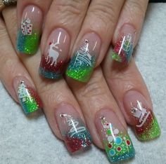 Holiday nail art design #christmas #nails #nailart