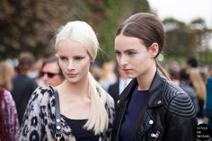 New post on http://www.styledumonde.com with #Dutch models #models Irene Hiemstra #IreneHiemstra @IreneHiemstra_x & Estella Brons #EstellaBrons @EstellaBrons after #Valentino #ss14 #fashionshow at #Parisfashionweek #pfw wearing #leopard #leather #outfit  #ootd... streetstyle street style #streetstyle #streetfashion #streetlook #streetchic #fashion #mode #style #Paris #weloveit #picoftheday  #bestoftheday #lookoftheday. Photo by #styledumonde