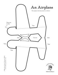 Airplane Template to Cut Out . 20 Airplane Template to Cut Out . Airplane Cut Out Pattern Airplane Crafts, Airplane Party, Airplane Activities, Paper Toys, Paper Crafts, Diy For Kids, Crafts For Kids, Christmas Origami, Paper Plane