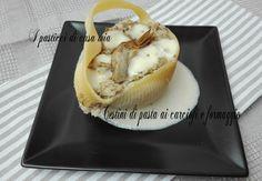 Cestini+di+pasta+ai+carciofi+e+formaggio