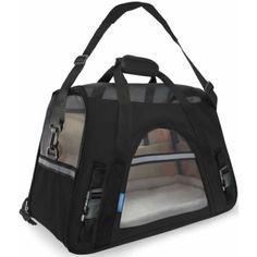 Pet Carrier Soft Sided Large Cat / Dog Comfort Black Travel Bag Airline *** Click image for more details. (Amazon affiliate link)