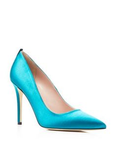 SJP by Sarah Jessica Parker Fawn Satin High Heel Pumps | Bloomingdale's