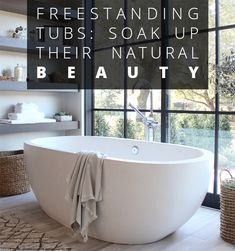 Find inspiration in these ten luxurious installations featuring Native Trails' copper, concrete, and brushed nickel freestanding tubs. Bathtub Ideas, Soaker Tub, Foyers, Clawfoot Bathtub, Mudroom, Master Suite, Bathrooms, Laundry, Inspirational