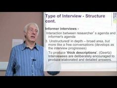 Research Interviewing Part 3: Types of Interviews