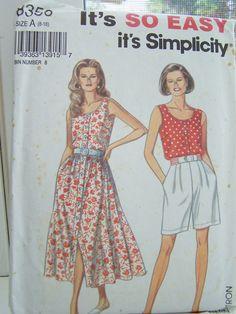 8457 UNCUT Vintage McCalls Pattern Misses Dress Mock Vest SEWING OOP NEW FF SEW
