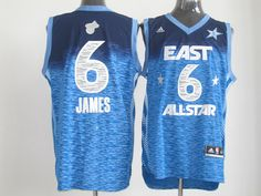 Adidas NBA All Star 2012 6 LeBron James Eastern Conference Jersey