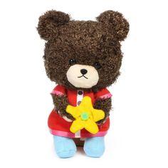 Bandai Sekiguchi The Bears School Jackie Holding Flower Fluffy Plush Doll