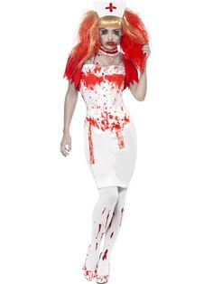 Zombie Nurse Costume Front at Halloween Fancy Dress and Party Nurse Halloween Costume, Nurse Costume, Nurse Fancy Dress, Anger Management, Discount Dresses, Discount Travel, Adult Costumes, Banner, Blood