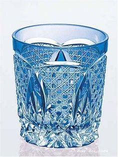 Edo Kiriko Rock Glass From Japan New