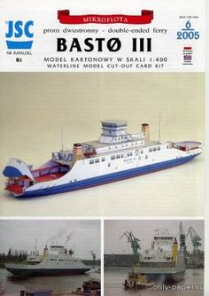 Paper model of the ferry Basto III