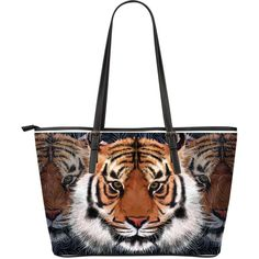 Tiger Large Leather Tote Bag – Wear Saga Large Leather Tote Bag, All About Eyes, Tigers, Saga, Take That, Stuff To Buy, Style, Swag, Stylus