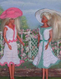 Crochet Fashion Doll Barbie Pattern- #394 SUNDAY FASHIONS #2