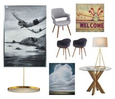 """Waiting Area #1"" by emoui on Polyvore featuring interior, interiors, interior design, home, home decor, interior decorating, Pier 1 Imports and Dot & Bo"