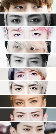 Sehun's eyes !!! Really love the way he always says : E - X - O