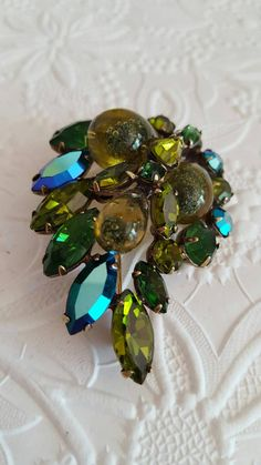 Vintage Regency Jewels Signed Brooch Bubble Art by TheCitrineBee
