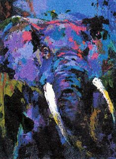 Portrait of the Elephant - LeRoy Neiman   i pinned this because of the wonderful color combinations