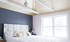 Spotted: Valspar paint in Carriage Wheel 408Q and Piglet VR004E. Check out the full bedroom makeover on Clementine Daily.