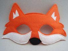 Patrones máscaras fieltro, mascara de zorro
