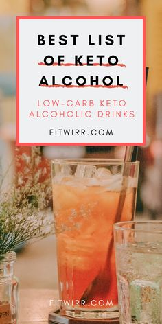 Beginner's Keto alcohol drink guide to stay low-carb while enjoying the night! Low-carb alcohol keto drinks for keto dieters. If you like to enjoy a glass of wine, cocktail, and other liquor on a keto diet, here are 33 low-carb… Continue Reading → Ketogenic Diet Meal Plan, Ketogenic Diet For Beginners, Keto Diet For Beginners, Keto Meal Plan, Ketogenic Recipes, Diet Recipes, Easy Recipes, Smoothie Recipes, Healthy Recipes