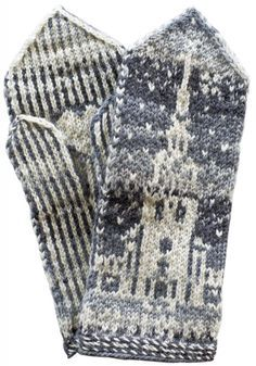 Pirkanmaan paikkakuntalapaset. Mänttä-Vilppula Fingerless Mittens, Knit Mittens, Knitted Gloves, Knitting Socks, Hand Knitting, Knitting Patterns, Wrist Warmers, Hand Warmers, Mittens Pattern