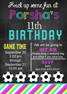 Soccer Birthday Party Tween Birthday Party Birthday Party for 11 year old by Bright Sunshiny Days http://www.brightsunshinydays.com/soccer-birthday-partywith-free-printable/