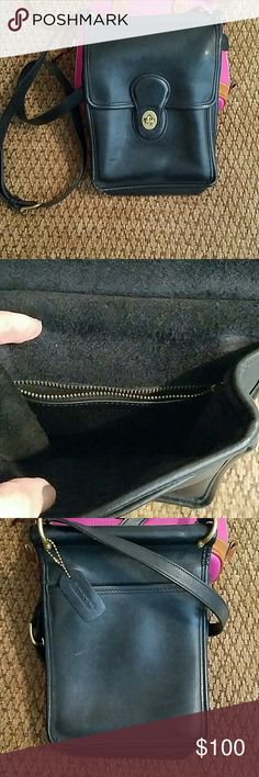 Limited Edition EUC Coach Crossbody Bag Outside back pocket Pocket just under front flap, and a zippered compartment inside the bag  Adjustable shoulder strap. This was a Christmas Limited Edition Coach bag offered by Marshall Fields in Chicago!  Paid $350  Pair with any other listings for a bundled discount! Michael Kors Kate Spade True Religion Hudson Jeans Joe's Jeans Free People Lucky Brand Coach Bags Crossbody Bags