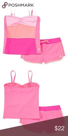 Free Country Color Block Tankini Set Girls 7 Free Country Color Block Tankini Set Girls 7 New Msrp $44.00 Pink/Cantaloupe  Soak up the sun in our tankini, featuring colorblocking for a   look that's always in style.  nylon/spandex  hand wash, line dry  imported  sku~childrenswm Free Country Swim